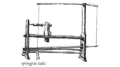 Lathe, spring-pole