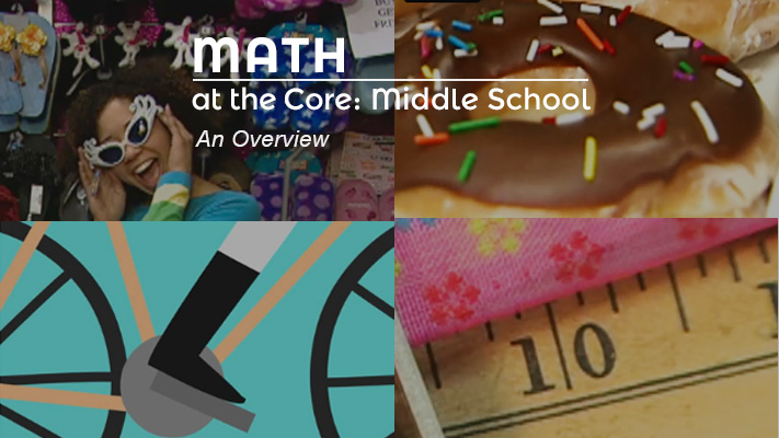 An image/graphic representing a math project for middle school students.