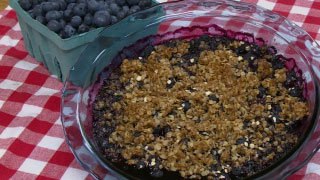 Butler's Blueberry Crumble
