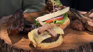 Lamb Burger with Lamb Belly Bacon