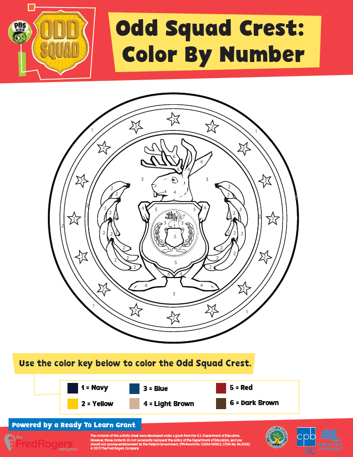 Playful image inside odd squad badge printable