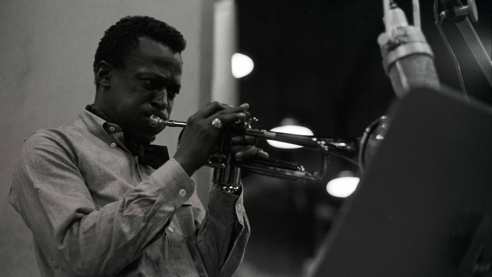 "Miles Davis during a recording for ""Kind of Blue."""