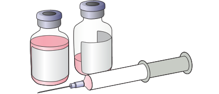 illustration of syringes and vials