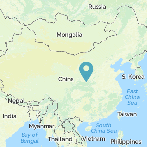 Map of China showing location of Banpo
