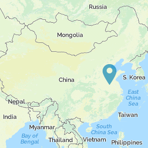 Map of China showing the location of Battle of Gaixia