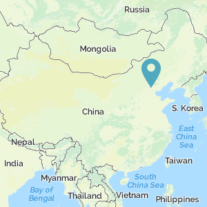 Map of China showing the location of Beijing