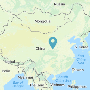 Map of China showing location of Chang'an
