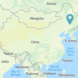 Map of China showing location of Manchukuo/Changchun