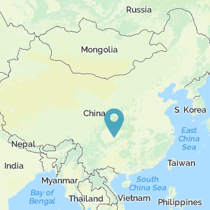 Map of China showing location of Chongqing
