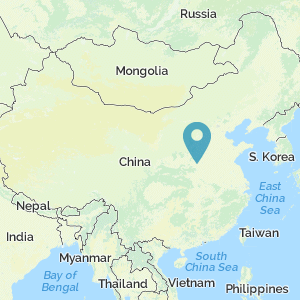 Map of China with marker at Erlitou