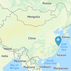 Map of China showing location of Hemudu
