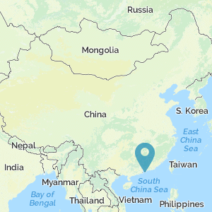 Map of China showing location of Hong Kong