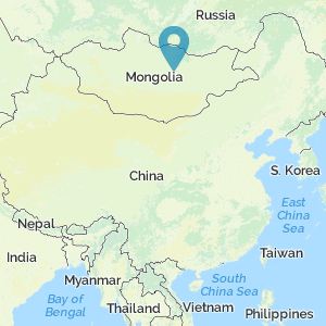 Map of China showing the location of Jao Modo