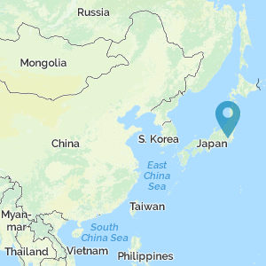 Map location of Japan