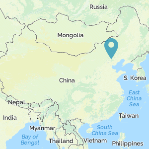 Map of China showing the location of Jehol