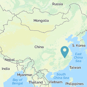 Map of China showing location of Jingdezhen