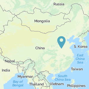 Map of China showing location of Kaifeng