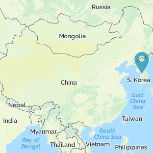 Map location of Korea