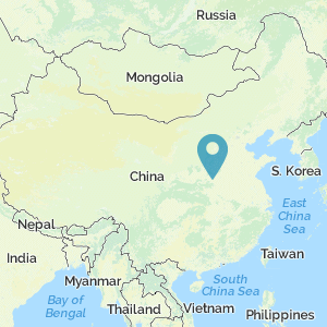 Map of China showing location of the Longmen Grottoes