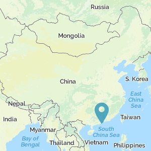 Map of China showing location of Macao