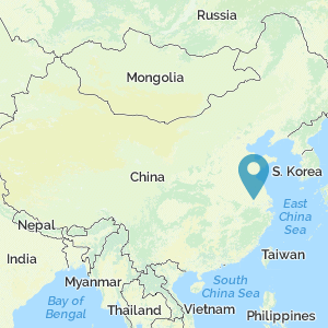 Map of China showing location of Nanjing