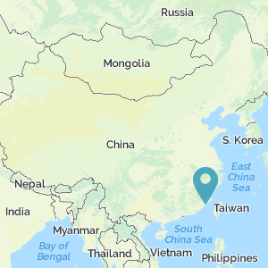 Map of China showing location of Quanzhou
