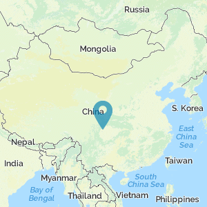 Map of China showing location of Sanxingdui