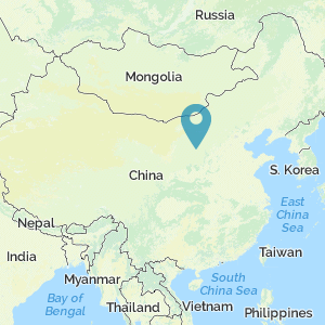Map of China showing location of Shaanxi