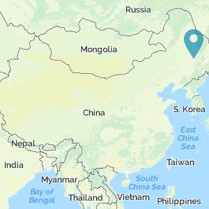 Map of China showing location of Shangjing