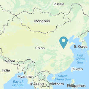 Map of China showing location of Shangqiu