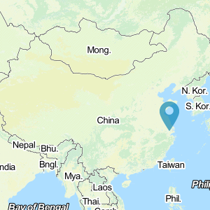 Map of China showing location of Suzhou