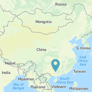 Map of China showing location of Thistle Mountain