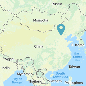 Map of China showing location of Tumu