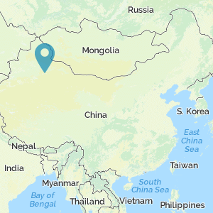 Map of China showing location of Turfan