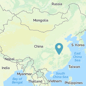 Map of China showing location of Wuhan