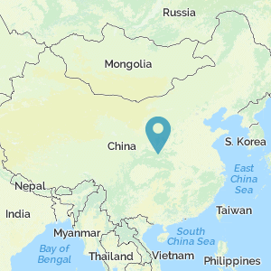 Map of China showing location of Xi'an