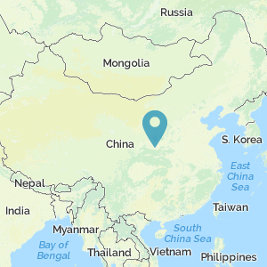 Map of China showing the location of Xianyang