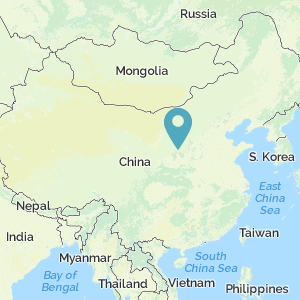 Map of China showing location of Yan'an
