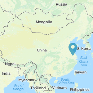 Map of China showing location of Yangzhou