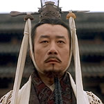 actor dressed as Chinese emperor
