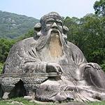 stone statue of Laozi