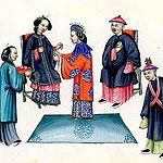 illustration of a Qing wedding ceremony