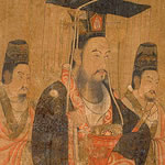 painting of Emperor Wen and two other people