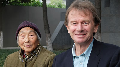 Michael Wood and a Chinese woman