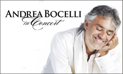 ANDREA BOCELLI CONCERT – Vegas PBS Ticket Exclusive until late March