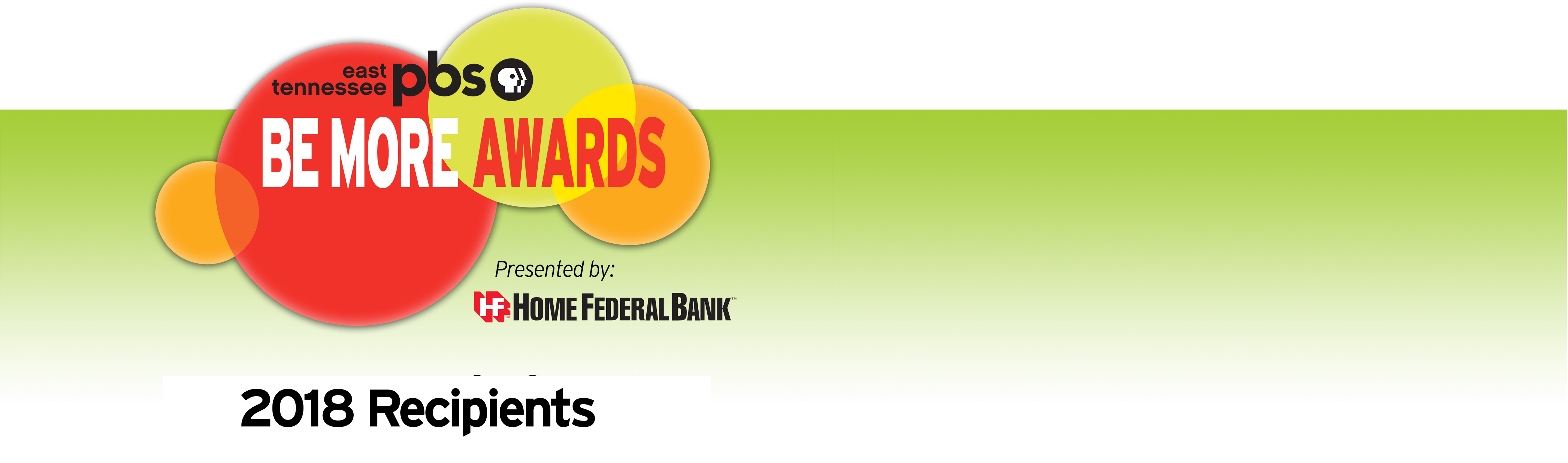 Home Federal Bank presents 2018 East Tennessee PBS' Be More Award Winners