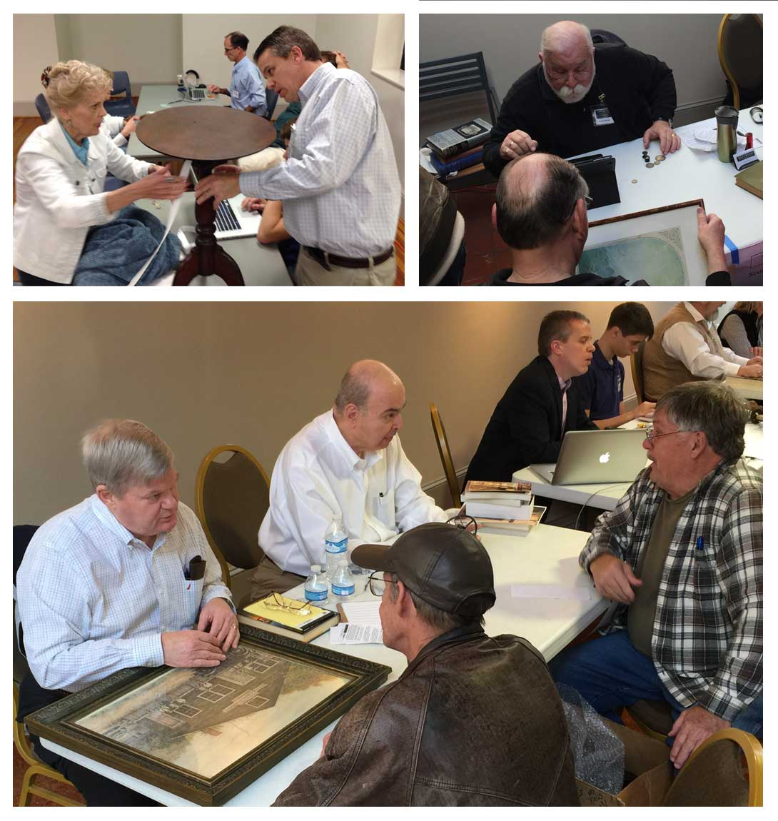 Appraisers in action. Join us for the Antique Appraisal Fair April 1, 2017