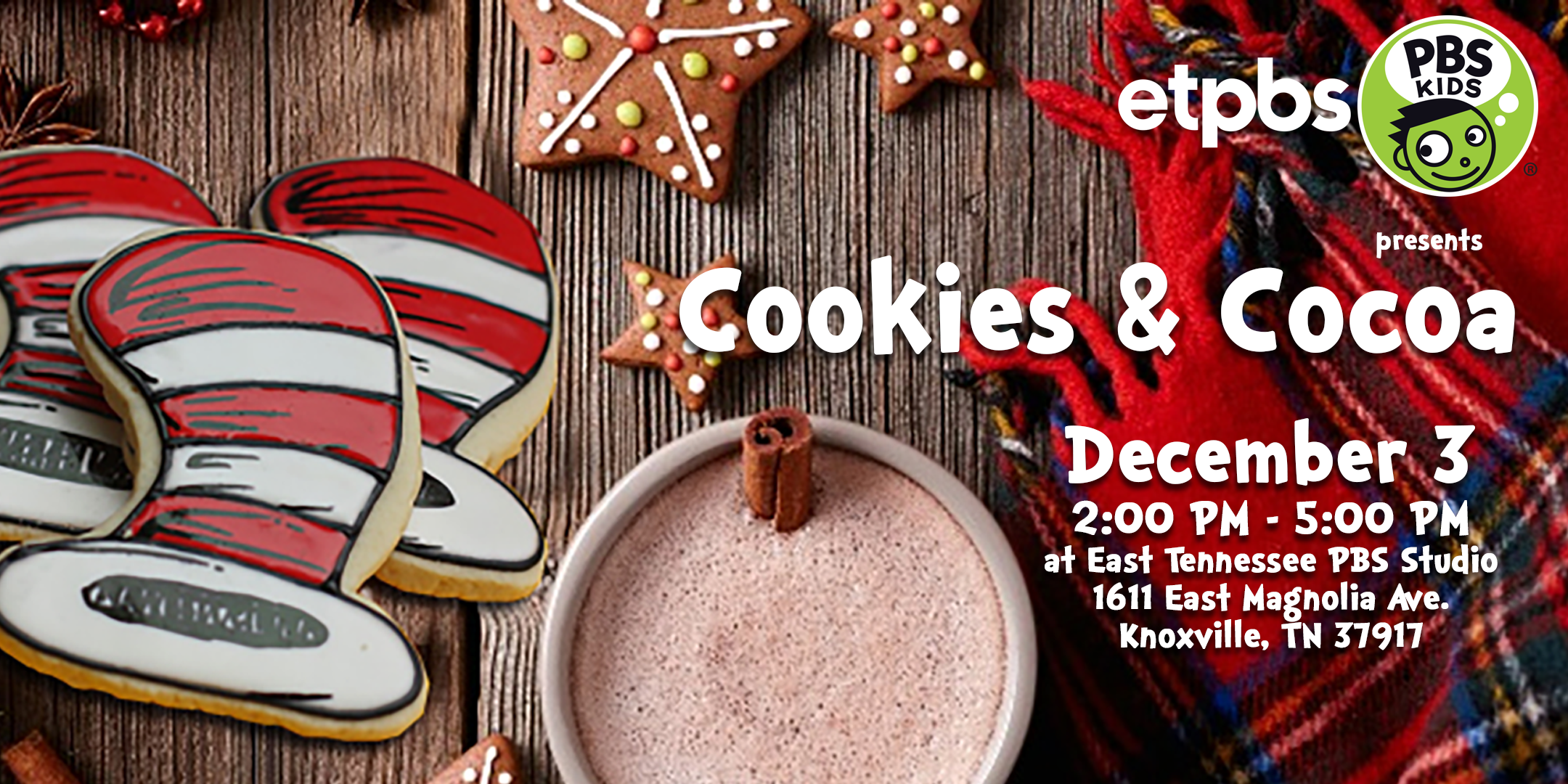 Second Annual East Tennessee PBS Cookies and Cocoa