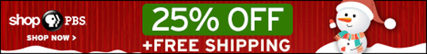 PBS Shop Christmas Promotional Banner