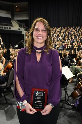 Heather Nelson, SDMEA Young Music Educator Award.